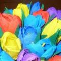 Квіти-вироби на 8 березня в дитячому саду з гофробумага, майстер-класи з фото