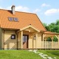 Як побудувати одноповерховий будинок з клеєного бруса