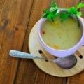 Молочний суп з тріски з селерою