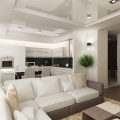 Поради щодо створення дизайну вітальні, суміщеної з кухнею