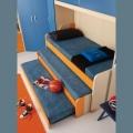 Триярусна ліжко викочування - зручні меблі для дітей і їх батьків