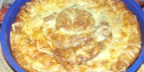 Блінчатий пиріг з грибами до масленнице - рецепт